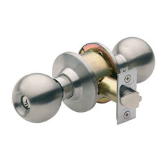 Gainsborough Stronghold Governor Entrance Knob Lock. Satin Stainless Steel.