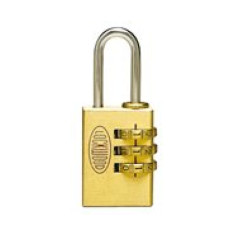 Lockwood 3 Wheel 25mm Combination Padlock. Re-Settable.